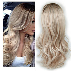 Ombre Wig Brown To Ash Blonde High Density - Bravozone