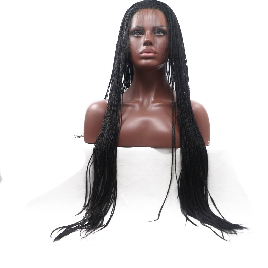 Lace Wigs Black Long Braided Wig - Bravozone