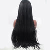 Image of Lace Wigs Black Long Braided Wig - Bravozone