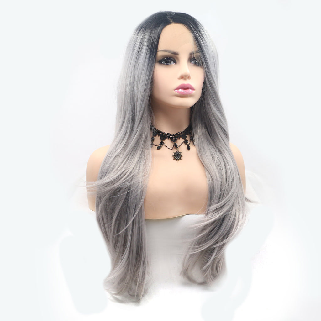 Ombre Synthetic Lace Front Wigs Heat Resistant Fiber Hair - Bravozone