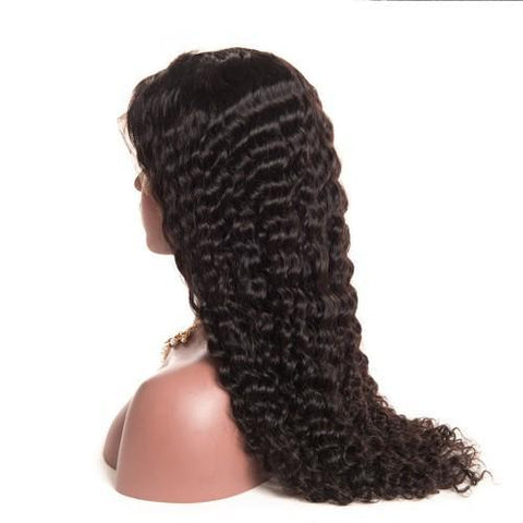 "20"" Lace Wigs DEEP WAVE HAIR FULL LACE WIG - Bravozone"
