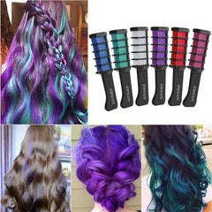 Hair Chalk Comb with 2pcs Disposable Glove and 1pc Shawl - Bravozone
