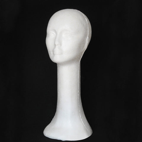 Mannequin Female Foam Long Neck Head Model - Bravozone