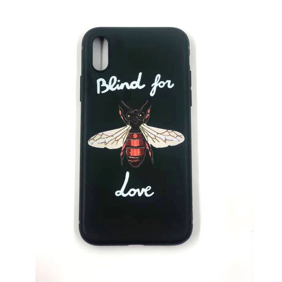 Coque Iphone X / Xs Blind For Love Silicone Souple noir