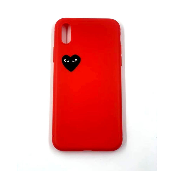 Coque Iphone X / Xs Play Silicone Souple rouge
