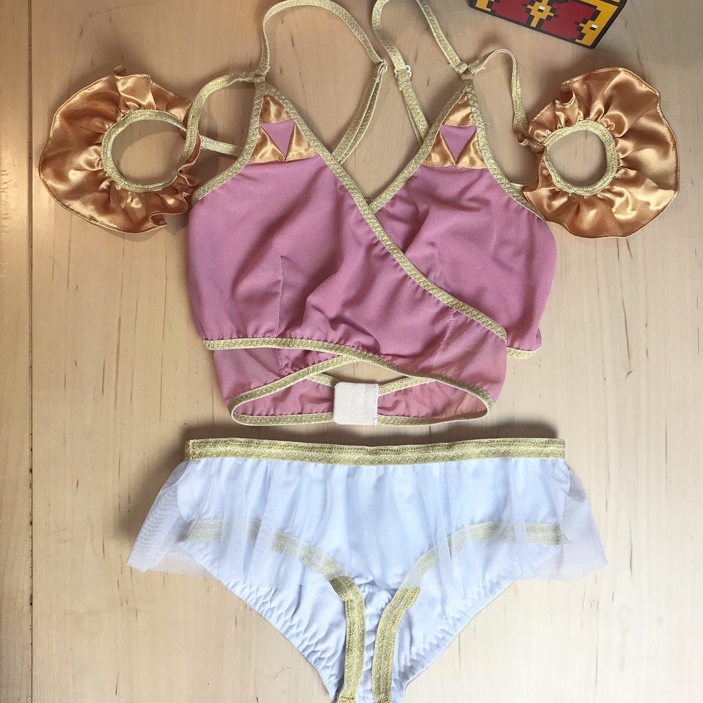 Twilight Princess Triforce Lingerie Set Bralette and Skirted Pantie XS-3X Legend of Zelda