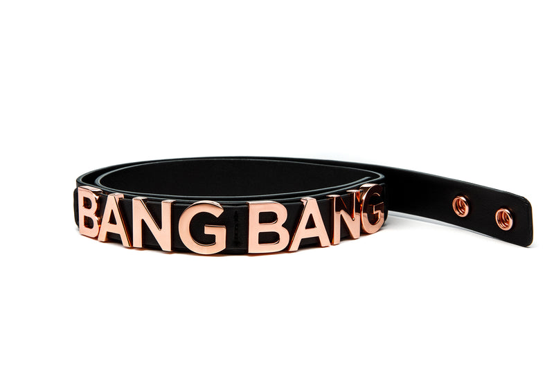BANGBANG BELT BLACK & GOLD ROSÉ - Accessories
