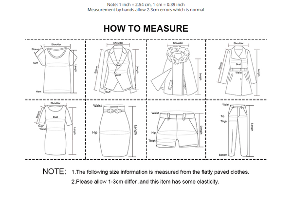 Sizing Info & How to Measure