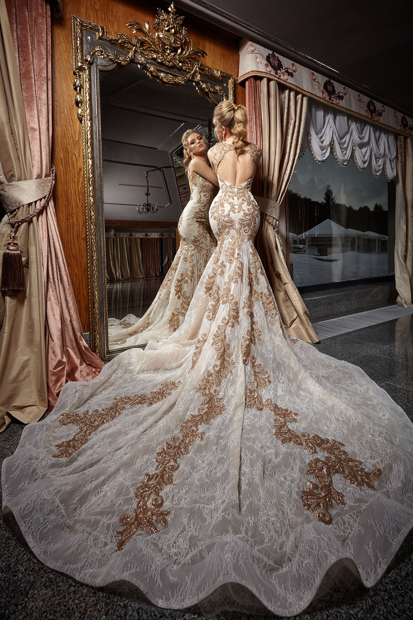 KC Haute Couture Blog color gold wedding dress