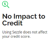 no impact on credit from sezzle