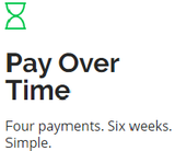 Pay over time with sezzle