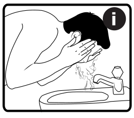 Prepare face for shaving using hot water