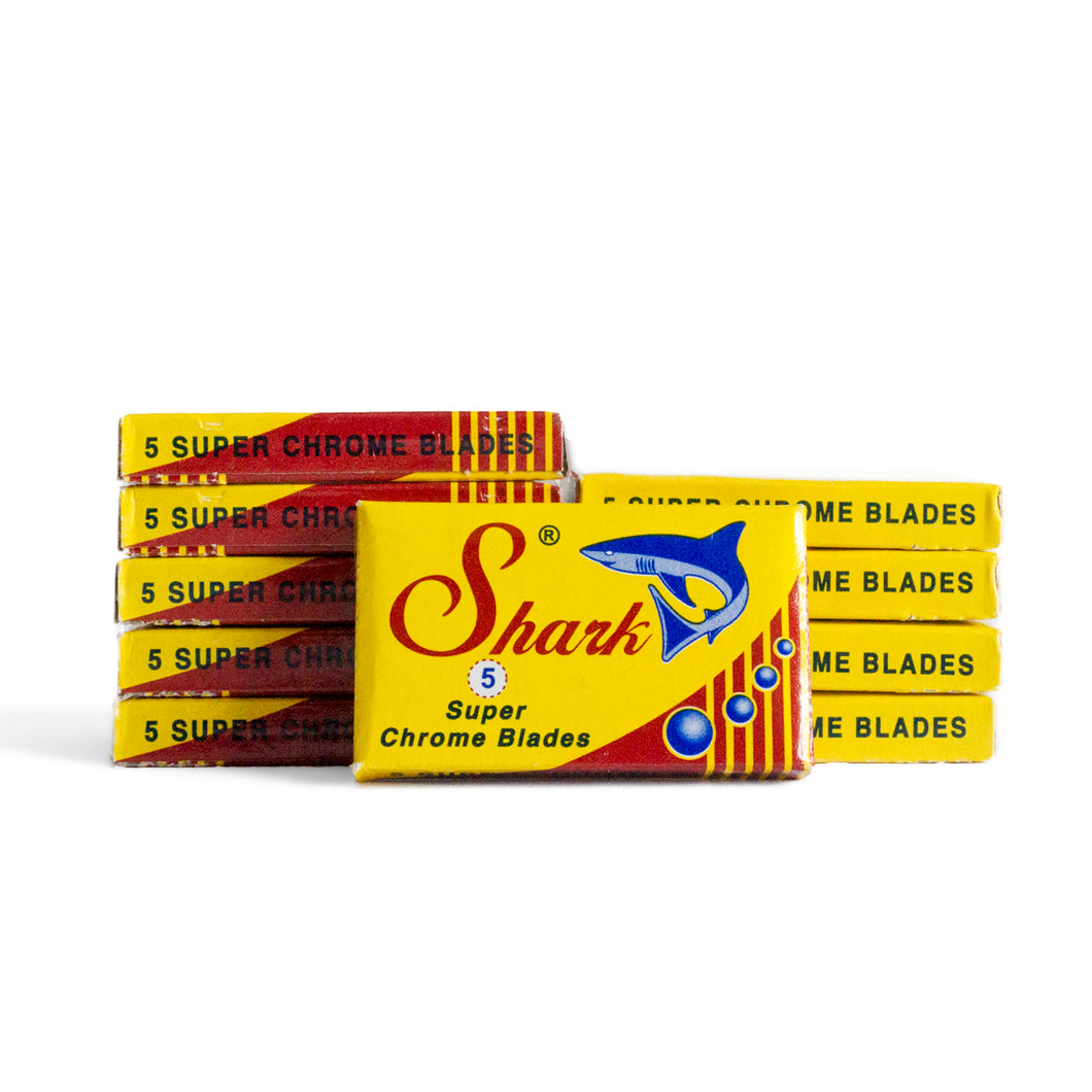 50 Shark Super Chrome Double-Edge Safety Razor Blades