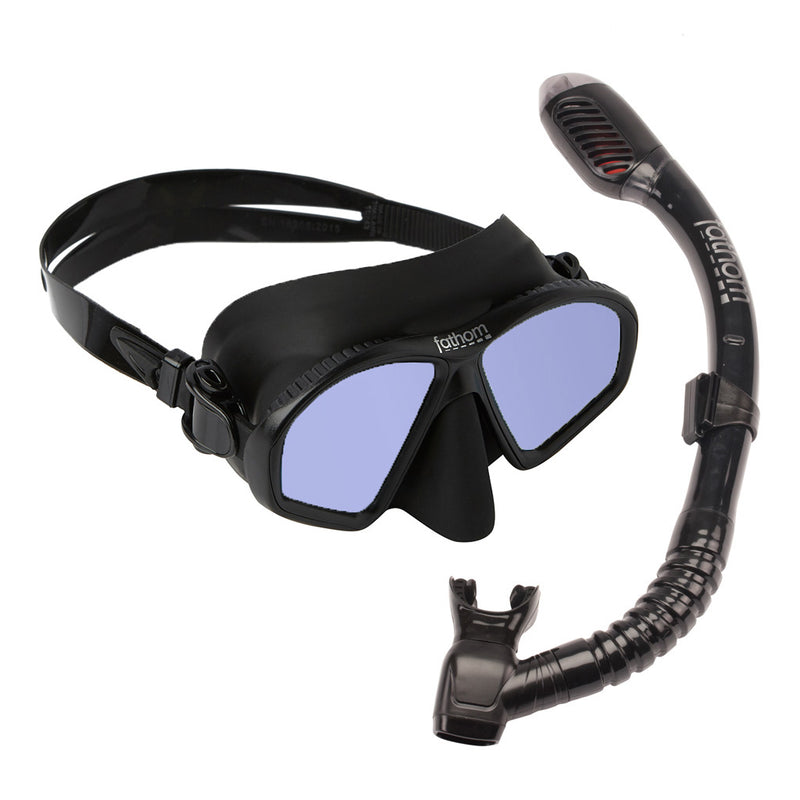 Akumal Elite Mask And Dry Snorkel Combo