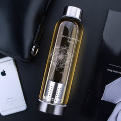Infuser high temperature resistant glass bottle