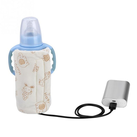 USB INSULATED BAG PORTABLE TRAVEL BOTTLE WARMER