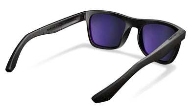 Polarized sunglasses with rose tinted lenses that block out harmful UV420 rays. Anti reflective coating on the back of the lens.