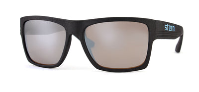 Polarized sunglasses with brown tinted lenses with silver flash mirror that block out harmful UV420 rays. Sunglasses are made in the USA with laser fusion 3D printing.