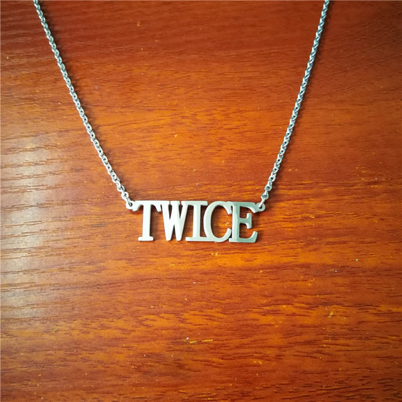 TWICE 'Logo' Pendant Necklace - Totally Kpop