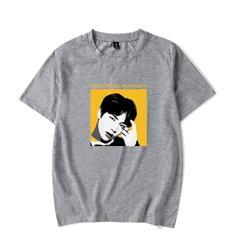 0346a194 BTS 'Funny Quotes' T-Shirt - Gray - Totally Kpop