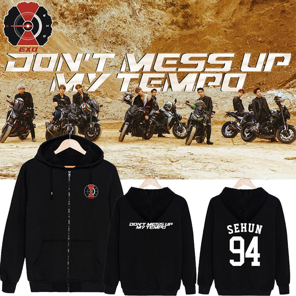 EXO 'Don't Mess Up My Tempo' Zipped Hoodie - Totally Kpop