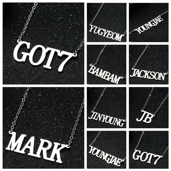 GOT7 Metal 'Bias' Necklace - Totally Kpop