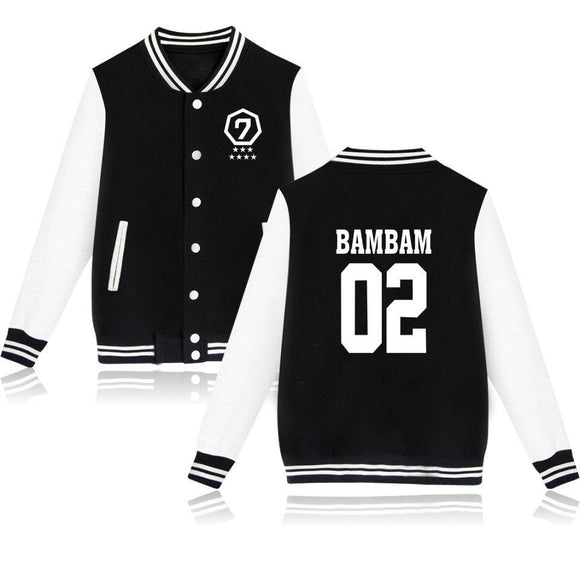 GOT7 'Bias' Member Varsity Jacket - Black - Totally Kpop