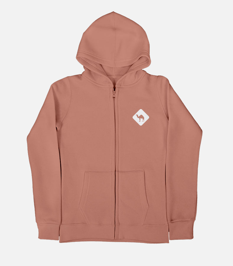 Jobedu Camel Crossing - Puff Printed | Women's Zip Up Hoodie