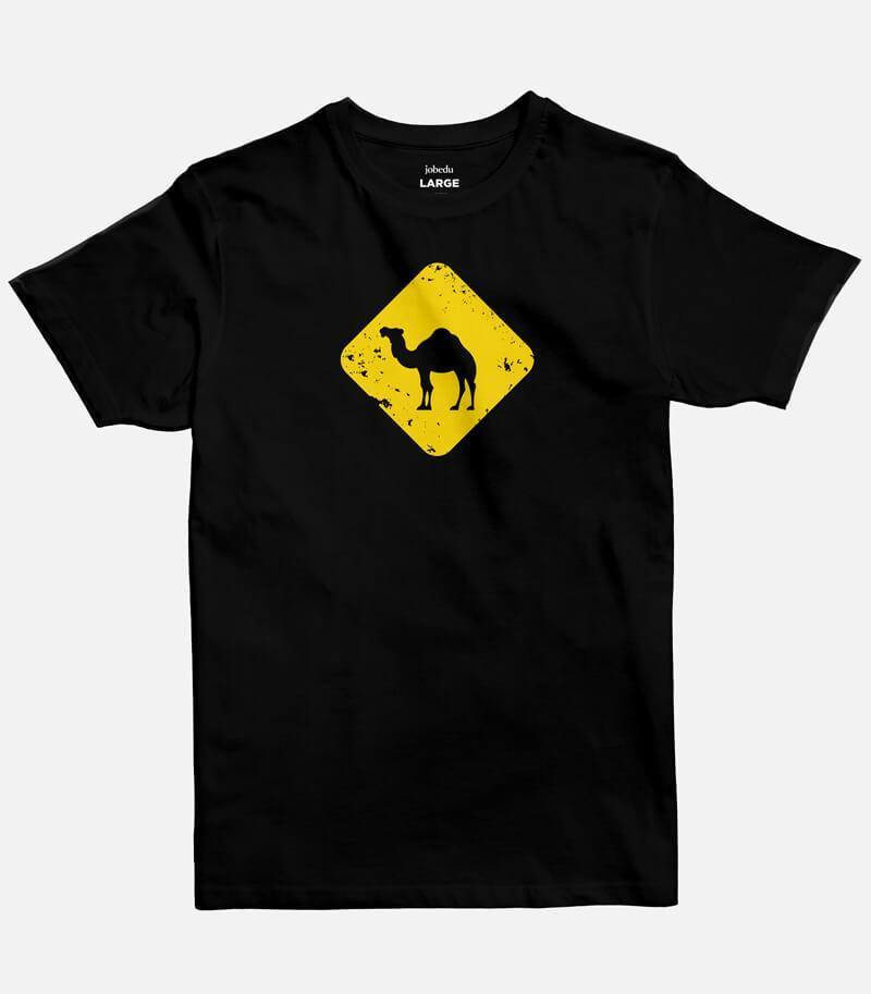 Jobedu Camel Crossing |  Men's Basic Cut T-shirt