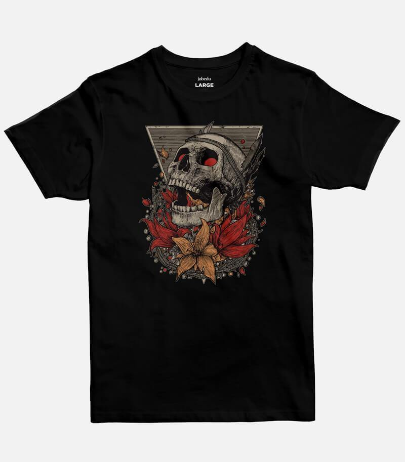 Screaming Skull | Men's Basic Cut T-shirt - Jobedu Jordan