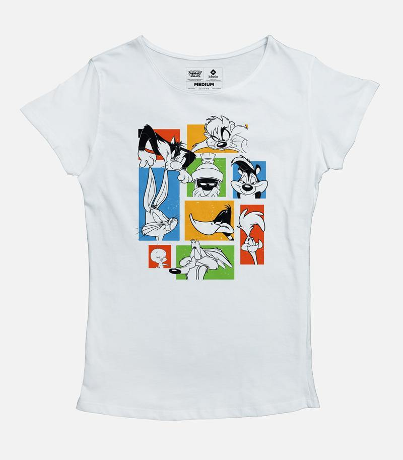Looney Tunes Faces Women's T-shirt