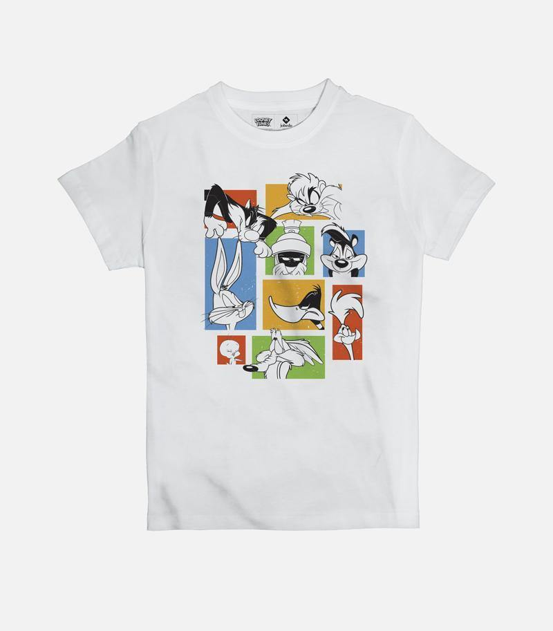 Looney Tunes Faces | Kid's Basic Cut T-shirt