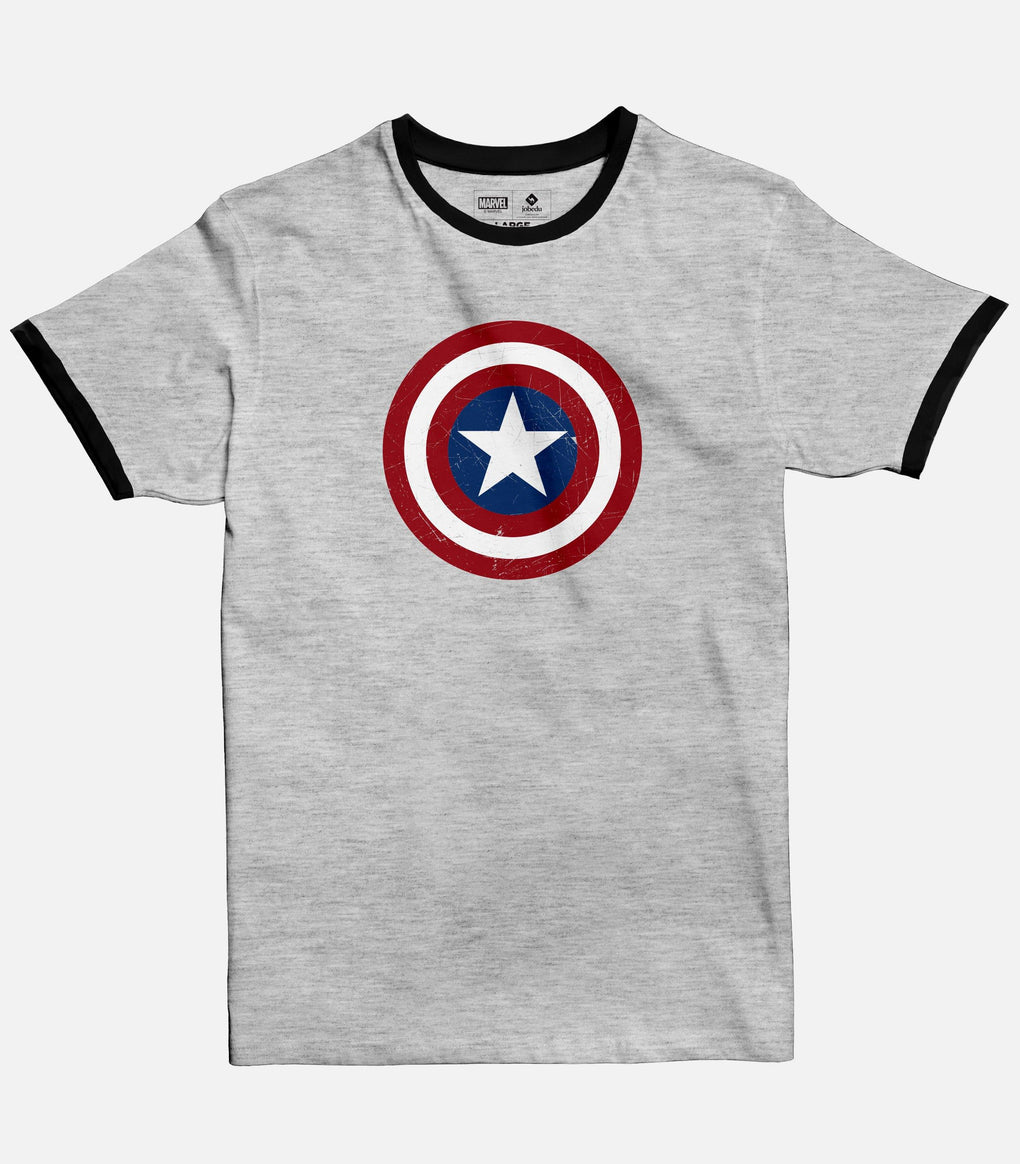 Captain America Shield | Men's Ringer T-shirt