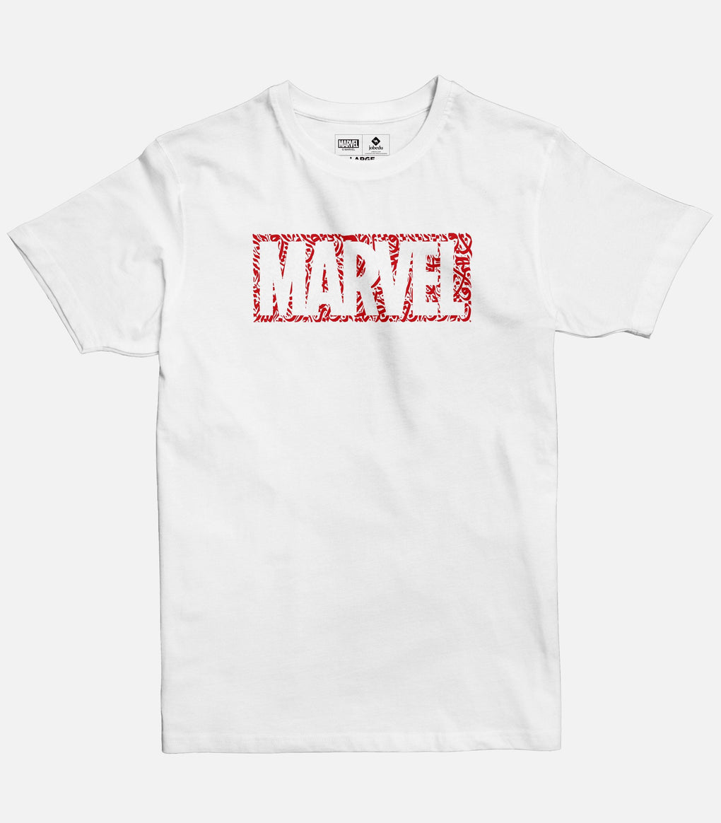 The Marvel Logo Calligraphy Men's T-shirt