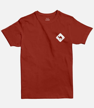 Jobedu Camel Crossing Icon | Men's Basic Cut T-shirt - Jobedu Jordan