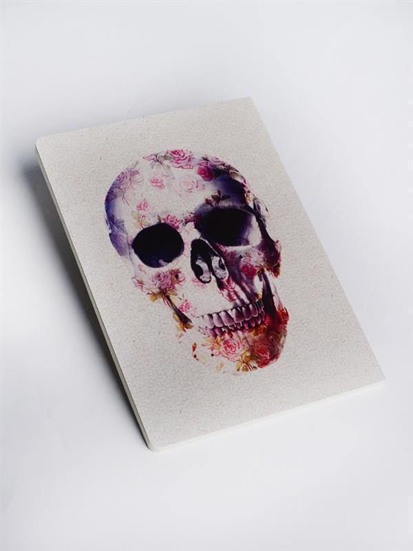Flower Skull Sketchbooks & Notebooks - Jobedu