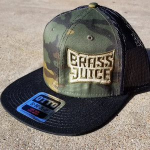 Brass Juice Camo Trucker Hat