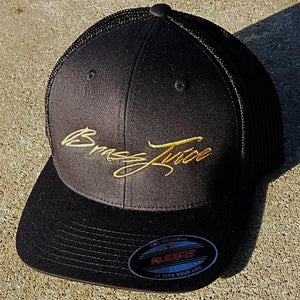 Brass Juice Black and Gold  FlexFit- Trucker Cap