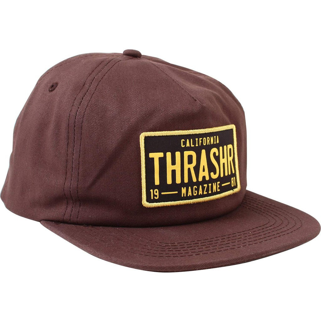 Thrasher Magazine DMV Snapback Brown