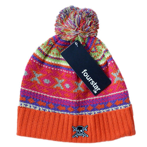 Fourstar Clothing - Pirate Patch Pom Pom Beanie
