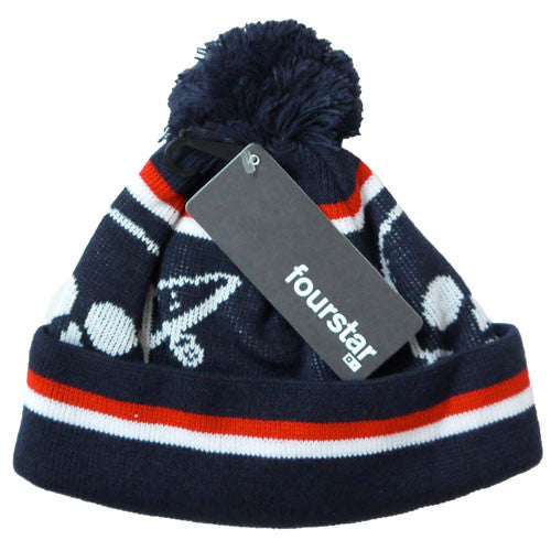 Fourstar Clothing - Pirate Chain Pom Pom Beanie [Black]