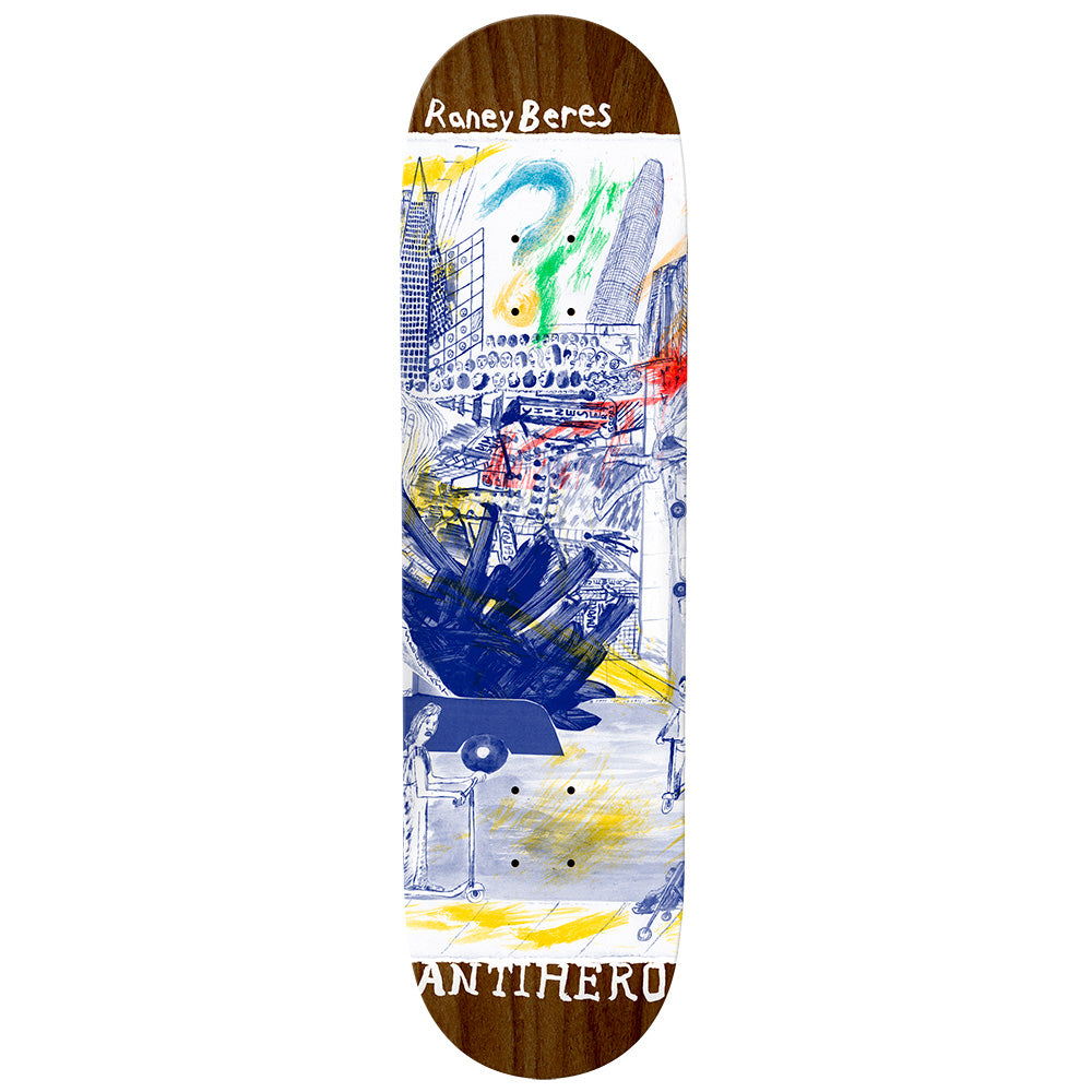 "Anti Hero Raney Beres SF Then And Now Deck 8.12"" Wide"