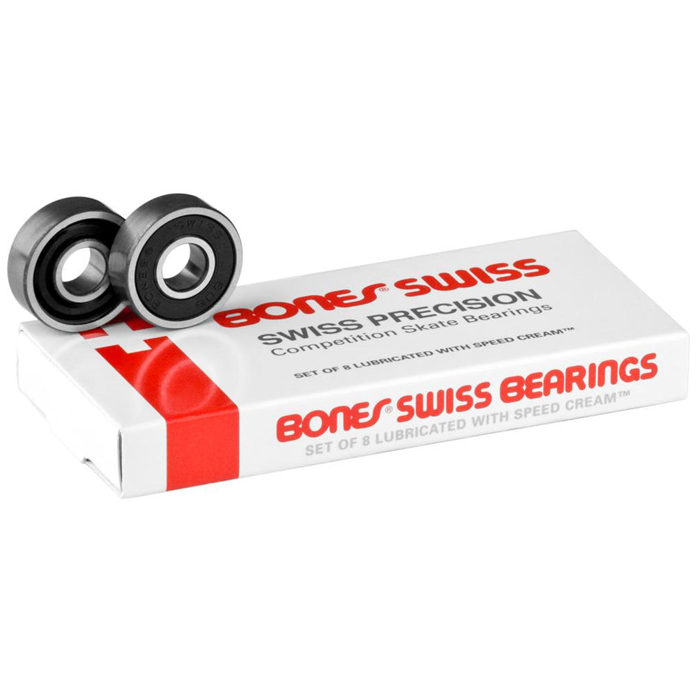 Bones Bearings Swiss Skateboard Bearings.