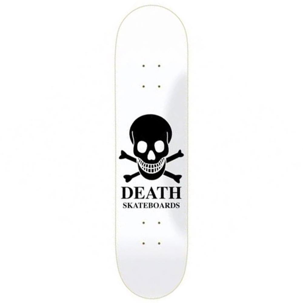 "Death Skateboards Reverse Logo team model. 8.25"" wide."