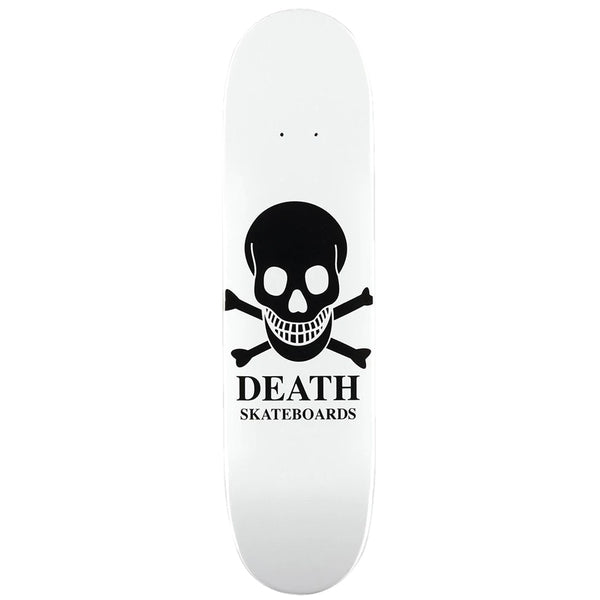 "Death Skateboards Reverse Logo mini model. 7.25"" wide."