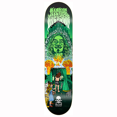 "Death Skateboards Richie Jackson pro model 8.375"" wide."