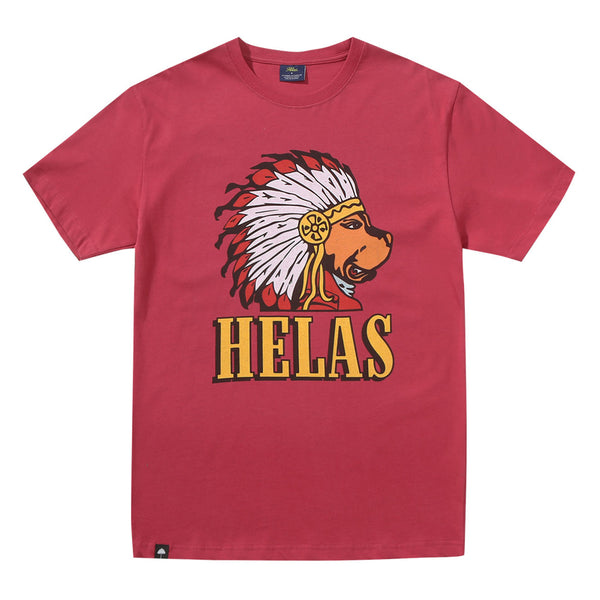 Helas Caps Indiana Dog T shirt Burgundy