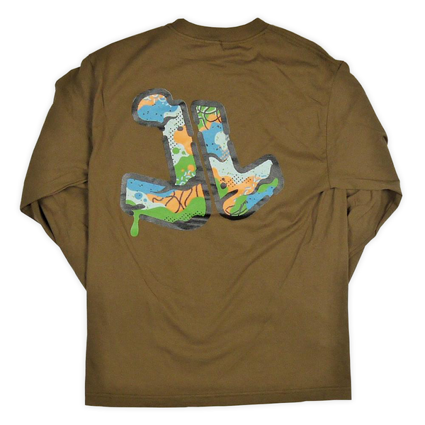 Camo Stencil Long Sleeve T-Shirt