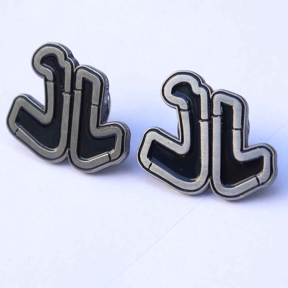 Ideal Stencil Logo Enamel Pins.