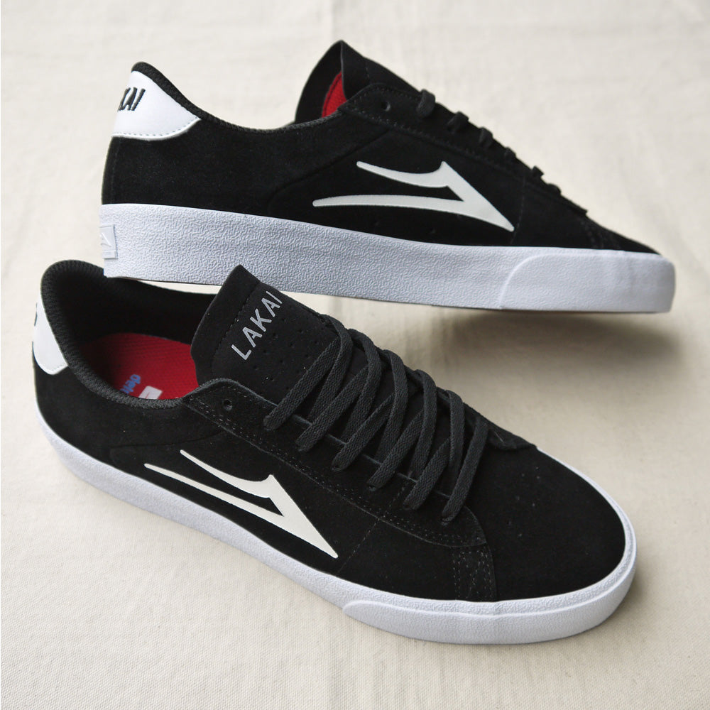 Lakai Newport Black White